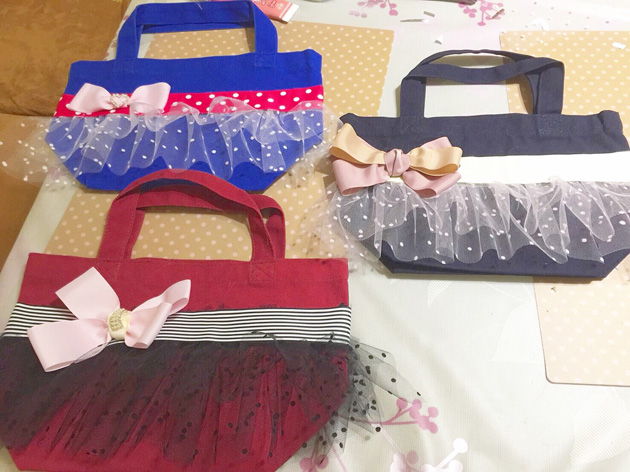 Frilly Bag作り